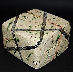 Large Ceramic Box by Potter Suzuki Goro